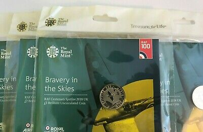 RAF Spitfire 2 Pound Coin 2018 Centenary Royal Mint Packaged