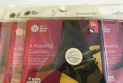 RAF Vulcan 2 Pound Coin 2018 Centenary Royal Mint Packaged