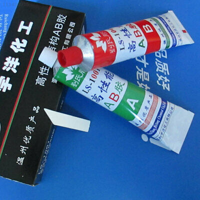195E A+B Resin Adhesive Glue with Stick Spatula For Super Bond Metal Wood New