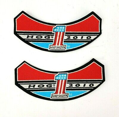 HARLEY DAVIDSON 2010 #1 HARLEY OWNERS GROUP PATCH Lot of 2
