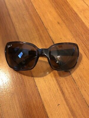 25194f50f Ray-Ban Women's Polarized Sunglasses RB4068 Tortoise Frames with Brown  Lenses