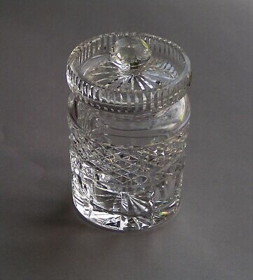 Vintage Waterford Castlemaine Crystal Jar Jam/Jelly Condiment with Lid