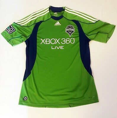 956813be9 2010 Seattle Sounders FC XBOX Adidas MLS Football Soccer Jersey Large  Authentic
