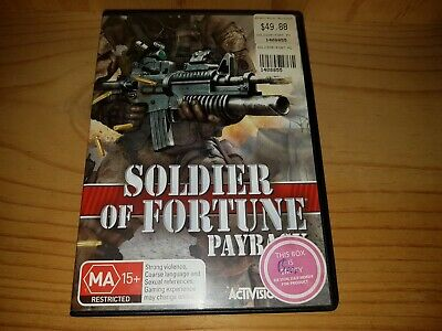 Soldier Of Fortune Payback - PC CD-Rom Game In Very Good Condition