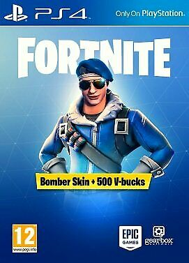 Fortnite Bomber Skin + 500 V-Bucks PS4 **EUROPE ONLY** Code  ☁Fast Delivery☁