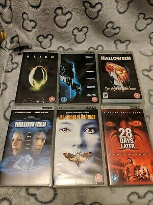 PSP UMD Horror Collection 6 Movies Halloween Alien Aliens Hollow Man VGC RARE