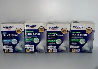 4 Equate Smart-Flex Extra Strength Clear Nasal Strips 108 Total