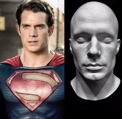 """Henry Cavill Life Mask Cast""""Superman""""Mission Impossible Fallout""""British Actor!!!"""