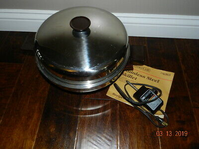 VTG Sears Counter Craft Electric Skillet Stainless Steel Adjustable heat buffet