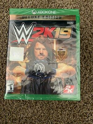Authentic—-  WWE 2K19 Deluxe Edition Xbox One Game BRAND NEW SEALED