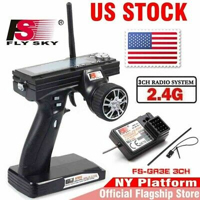 Flysky FS-GT3B 2.4G 3CH Transmitter With Receiver Fail-Safe For RC Car Boat US