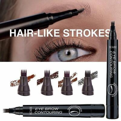4-Tip Fork Microblading Eyebrow Pencil Tattoo Waterproof Long-Last Makeup New