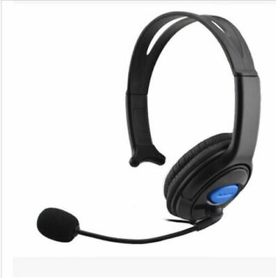 Deluxe Headset Headphone With Microphone +Volume Control For Ps4 Controller & Pc