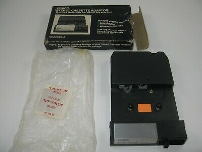 NOS Kraco #KCA-8 Stereo Cassette Adapter FOR 8-TRACK TAPE PLAYERS Car Home Audio