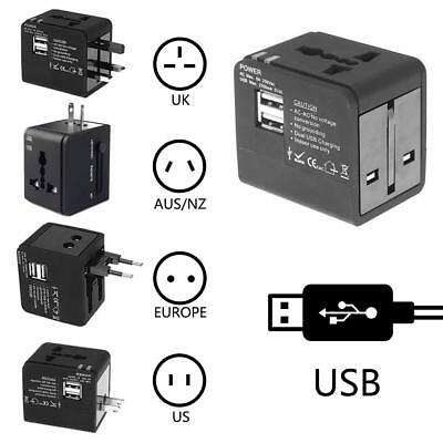 Universal Power Adapter Electric Multi-country Converter World USB Travel Plug