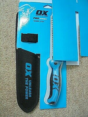 Ox Tools Pro Jab Saw 165mm With Heavy Duty Canvas holster 8TPI - P133116