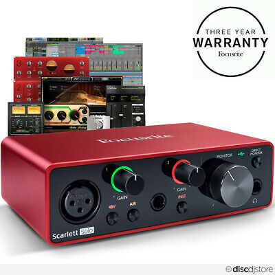 Focusrite Scarlett Solo (3rd Gen) USB Audio Interface + Free Plugin Bundle