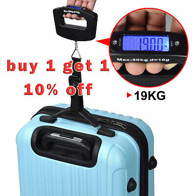 50KG Digital Travel Portable Handheld Weighing Luggage Scales Suitcase Bag hot