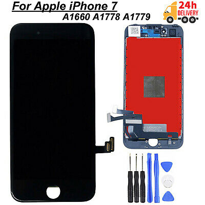 "For iPhone 7 Screen Replacement Black Touch Digitizer 4.7"" LCD Display + OEM IC"
