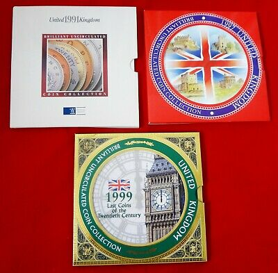 UK 1991. 1997. 1999 ROYAL MINT BRILLIANT UNCIRCULATED COIN Collections (3 sets)