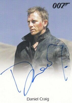 James Bond Mission Logs Daniel Craig as James Bond Auto Card