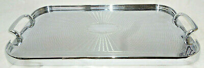 POLISHED ART DECO SERVING TRAY - 47cm long - Beautiful Engraved Patterns