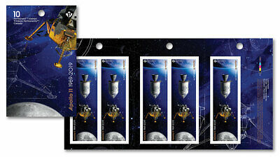 Canada Booklet Apollo 11 Permanent Domestic stamps MNH ** Free Shipping **