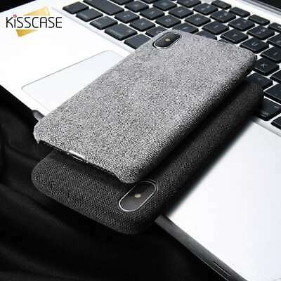Creative Cloth Texture Shockproof Soft Gel Case Cover fr iPhone Xr Xs Max Plus X