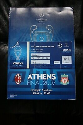 AC Milan v Liverpool 2007 Champions League Final Programme and Ticket