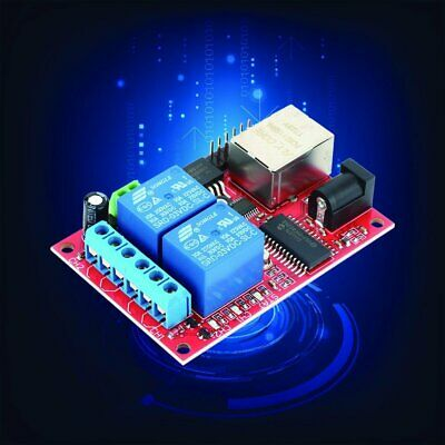 ETHERNET IP 2 Way 10A Relay Board Delay Switch TCP/UDP