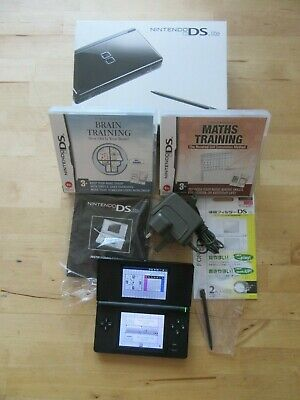 Nintendo DS Lite Handheld System - Black ,   with Box and games  Bundle   (001)