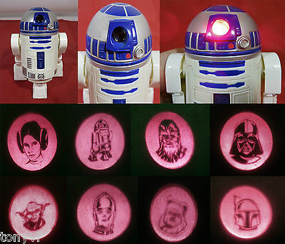 STAR WARS R2D2 Droid Images Projector McDonald's Promotional Toy Figure No.1|VG+