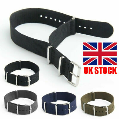 Nylon Nato Watch Strap Band Military Army Diver G10 MoD SS. Buckle Spring Bars