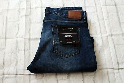 d9e7f9b2e935d6 Mens Tommy Hilfiger Denton Jeans Straight Fit Stretch Size W36 L32 BNWT RRP  £100