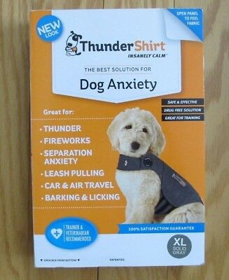 Thundershirt Dog Anxiety Calming Jacket XL Dogs Solid Gray HGXL-T01