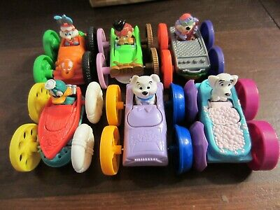 McDonald's Happy Meal Vintage Tiny Toons Flip Cars Toy Lot 1990's Free Ship!