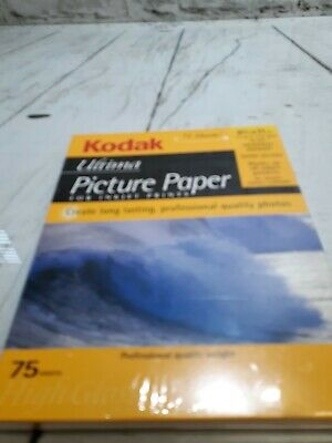 Kodak Ultima Picture Paper 75 Sheets High Gloss 8.5x11 in new