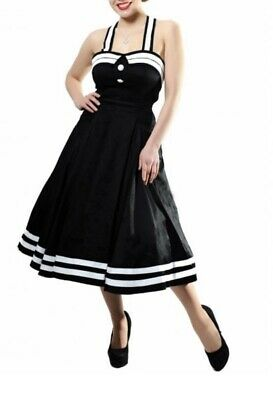 COLLECTIF VINTAGE SAILOR Dress 1950s Red / White Cute ...