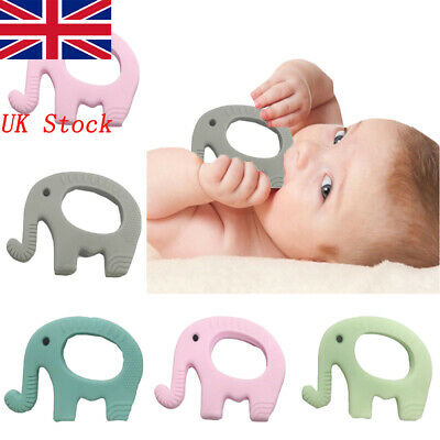 Baby Silicone Elephant Teether Mitts Soft Chew Molar Toy Teething Mitten Relieve
