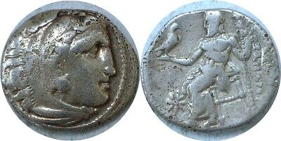 "336-323 BC Macedonia Alexander III ""The Great"" Heracles Zeus Silver Drachm"