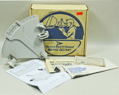 Vintage Beginners The DAVIS MARK III STANDARD MARINE SEXTANT Learn Navigation