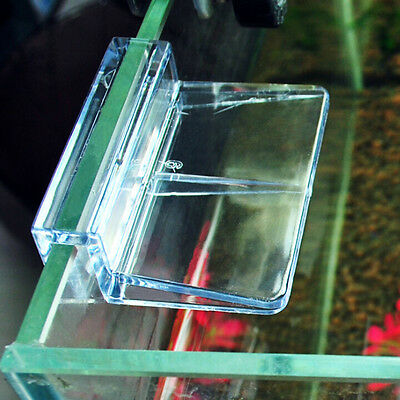 6/8mm Aquarium Tank Clear Plastic Clips Glass Cover Strong Support Holders X4TPD