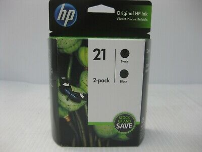 HP 21 Black Ink Set Twin Genuine C9508FN *** SHIPS OVERBOXED *** Date: Feb 2021