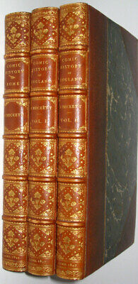 LEATHER Set;HISTORY OF ROME,ENGLAND!Dickens COMIC LEECH(FIRST EDITION!)1845 RARE