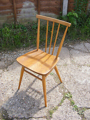 Vintage Mid Century Retro Wooden Ercol Model 391 Kitchen Dining Stick Back Chair