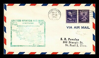 Dr Jim Stamps Us Am 87 Huntington West Virginia First Flight Air Mail Cover