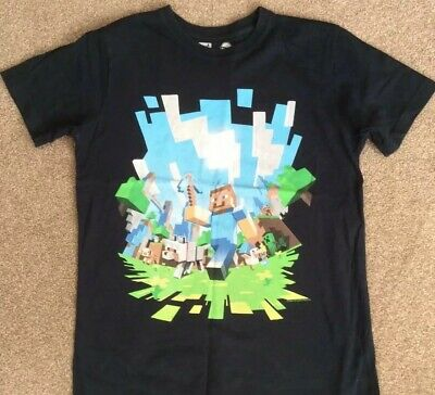 Boys Official Mojang Minecraft Enderman Red Dragon Long Sleeve Top 8 to 16 Years