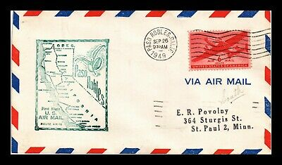 Dr Jim Stamps Us Paso Robles First Flight Air Mail Cover Am 76 Los Angeles