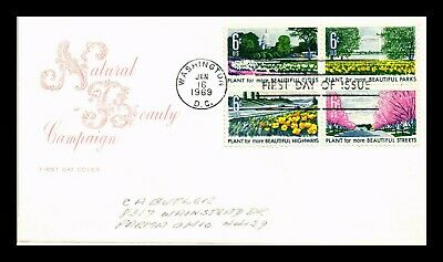 Dr Jim Stamps Us Natural Beauty Block Of Four House Of Farnum Fdc Cover