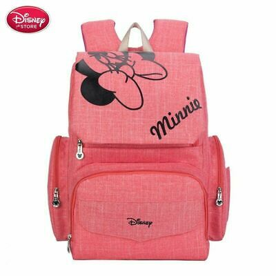Disney  Minnie Mouse Diaper Bag  Maternity Nappy Backpack For Baby
